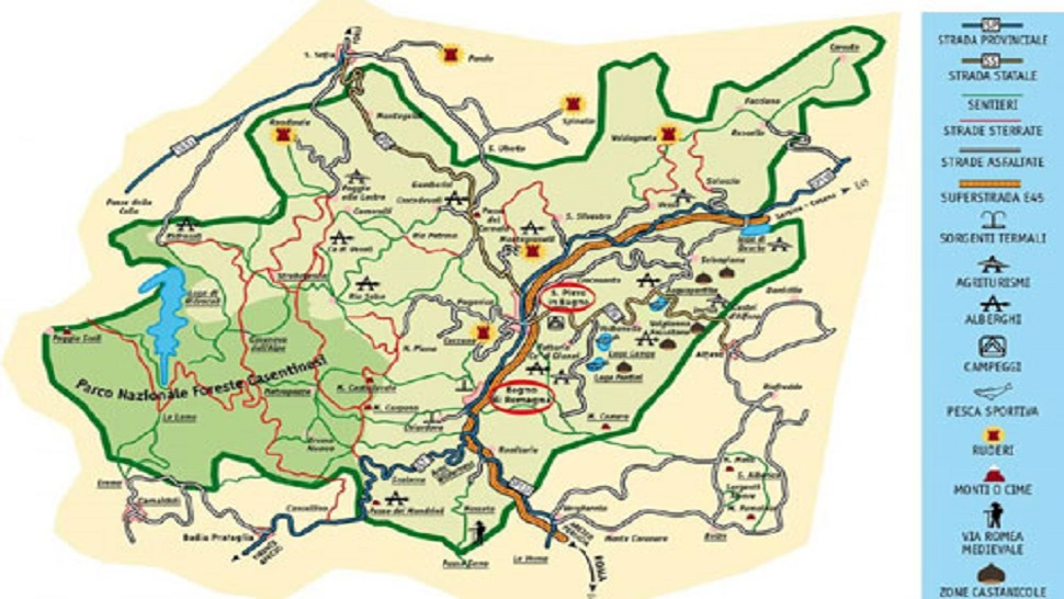 cartina territorio bagno di romagna
